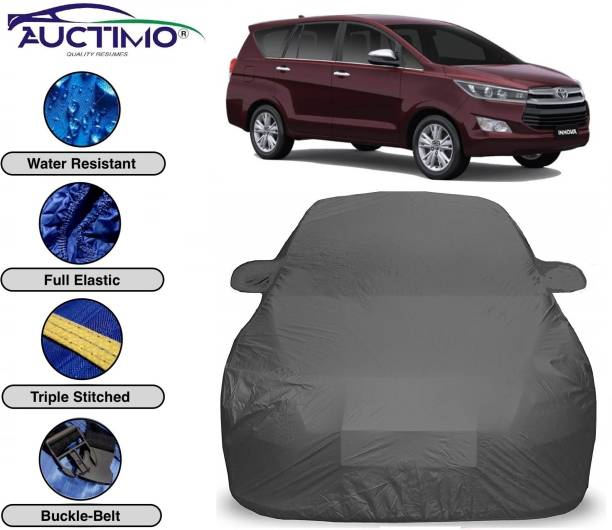 AUCTIMO Car Cover For Toyota Innova Crysta (With Mirror Pockets)