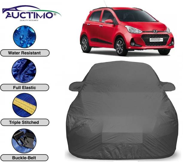 AUCTIMO Car Cover For Hyundai Grand i10 (With Mirror Pockets)