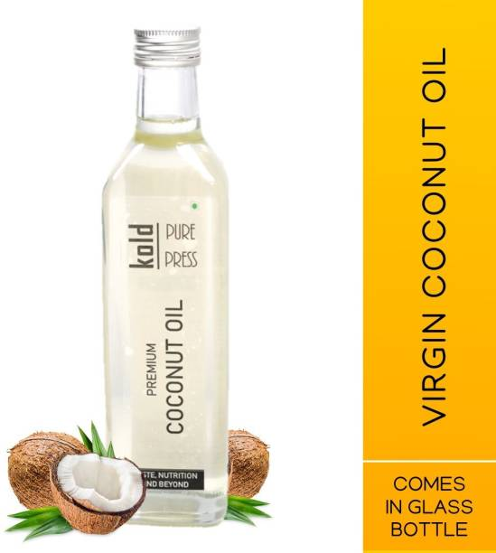 KOLD PURE PRESS Virgin Coconut Oil | Cold Pressed | For Cooking, Hair & Skin | Comes in Glass Bottle | 1000ml Hair Oil
