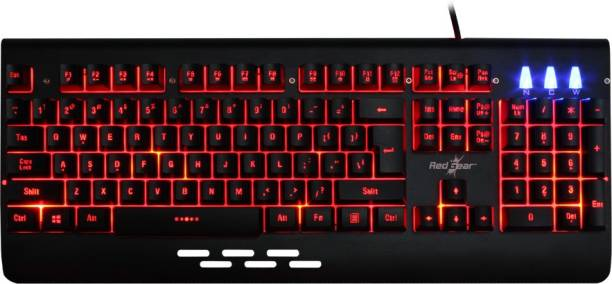 Redgear MT-01 Blaze 3 Color LED Wired USB Gaming Keyboard