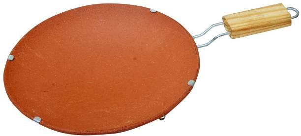 Tansa Mitti Terracotta Clay Tawa Earthen Products Clay Chapati Tawa with Stand (Brown) Tawa 13 cm diameter