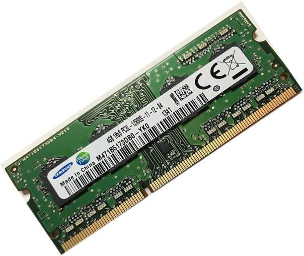 SAMSUNG DD3 DDR3 4 GB (Dual Channel) Laptop (m471b5173dbop-yko 12800s)