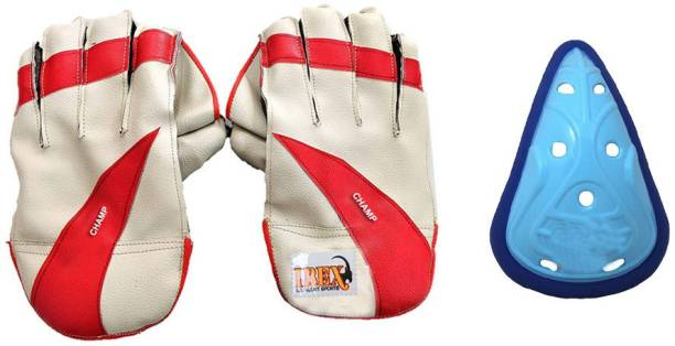 IBEX Champ Wicket Keeping Gloves Combo With Abdominal Guard Wicket Keeping Gloves