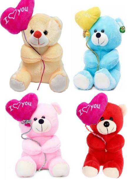 ToyKing Combo Offer Set of 4 Cute I Love You Balloon Teddy Bear  - 27.5 cm
