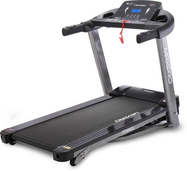 Maxpro PTM405 2 HP Continuous power and 4 HP Peak power with Manual Inclination settings Treadmill