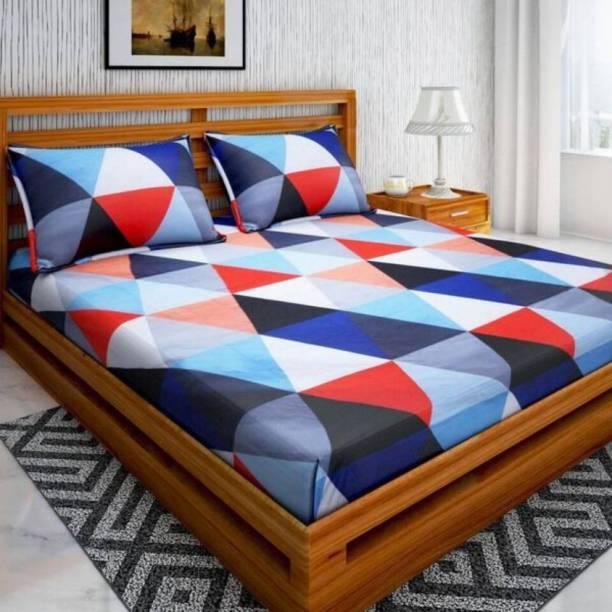 SHIVAAY HOMES 144 TC Cotton Double Printed Bedsheet