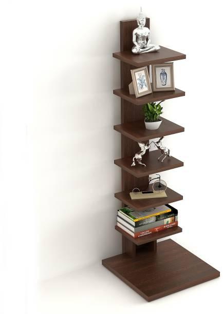 BLUEWUD Osvl Engineered Wood Semi-Open Book Shelf
