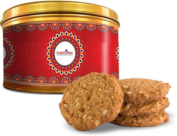 Cookieman Butter Cashew Cookies - Small Tin Cookies