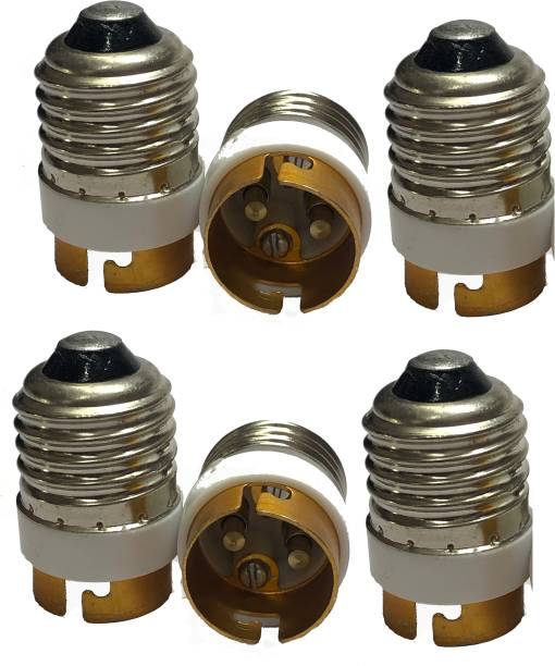 TOPHAVEN E27 To B22 Aluminium Socket Lamp Holder Light Bulb Converter Adapter Plastic, Aluminium, Brass Light Socket