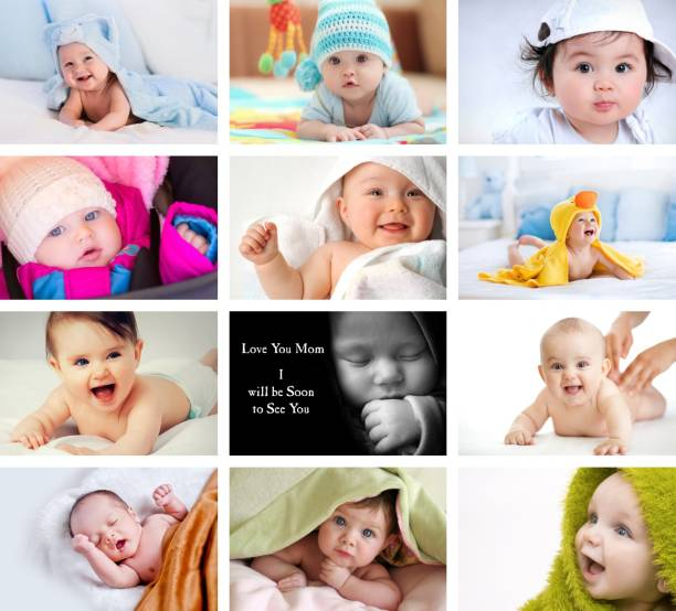 Set of 12 Cute Baby Combo Posters | Poster for Pregnant Women | HD Baby Wall Poster for Room decor (12x18-Inch, 300GSM Thick Paper, Gloss Laminated) Photographic Paper