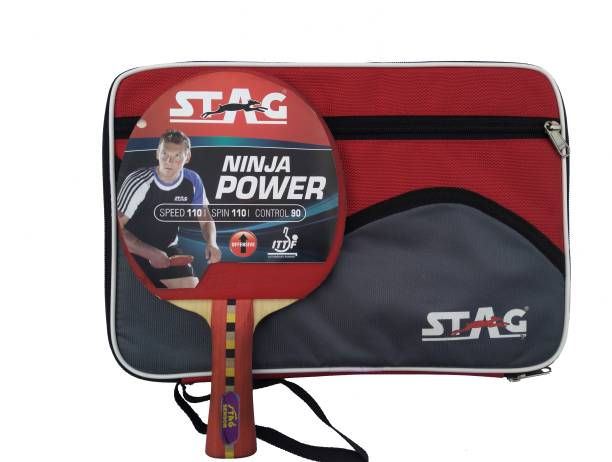 STAG Ninja Power With Padded Case Multicolor Table Tennis Racquet