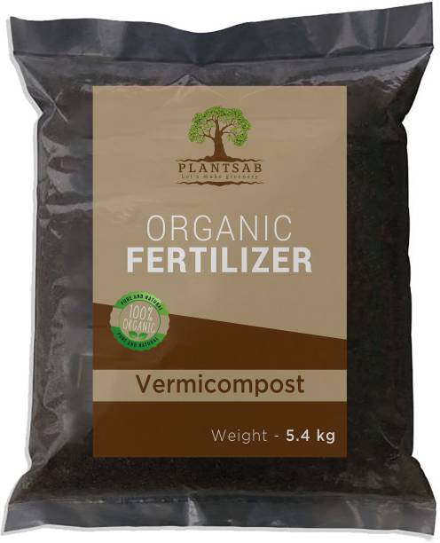 Plantsab Vermicompost 5.4 Kg - Organic & Natural Plant Nutrient For Home Gardens And Potting Mix ORGANIC SOIL MANURE