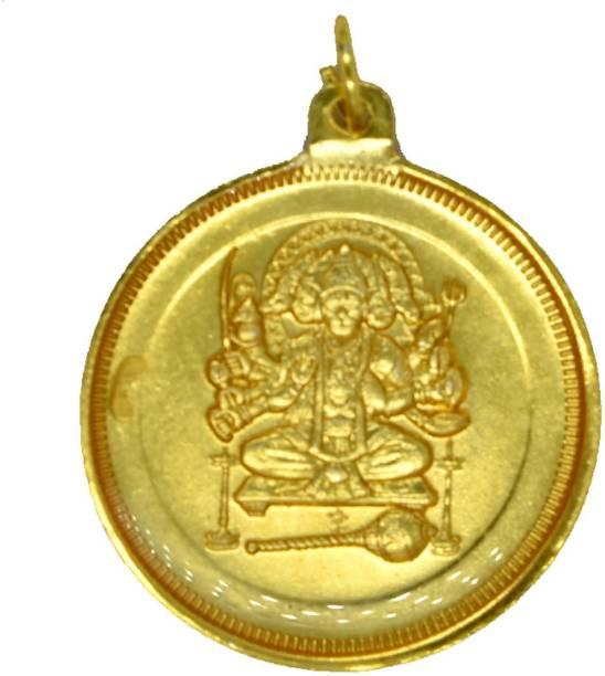 AFH Om Hanumate Namaha Panchmukhi Hanuman 38 mm Raksha Kavach Yantra For Meditation, Protection, Wealth and Success Brass Yantra