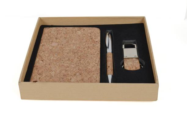 Heartify moments Eco-Friendly Cork Dairy with Pen and Key Holder Gift Set