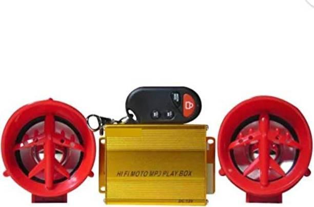 BIDAS Anti Theft Alarm & Audio System MP3 With FM Dual Speaker Bike Stereo System Bike Stereo System