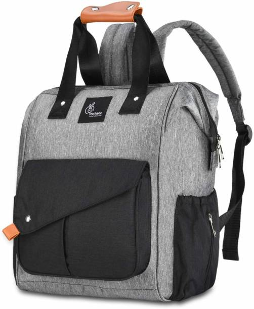 R for Rabbit Caramello Delight Diaper Bag - Smart and Fashionable Diaper Bags for Mothers(Grey Black) Diaper Bag