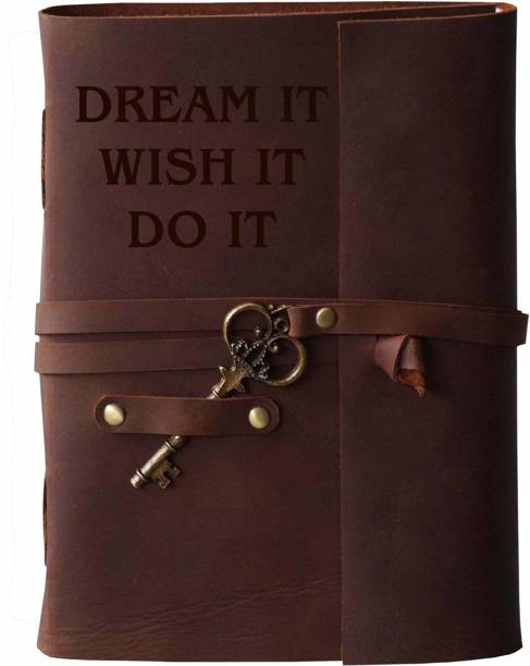 MAKENSTYLECOLLECTION Handmade Diary with Motivational Quotes on leather Cover A5 Diary Unruled 144 Pages