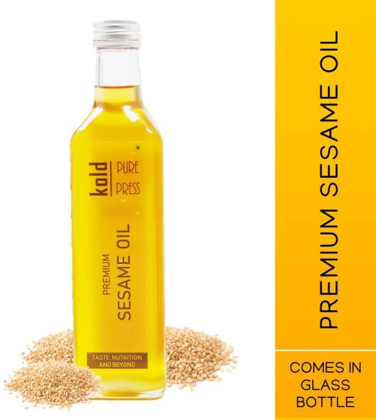 KOLD PURE PRESS Premium Sesame Oil | 100% Pure and Natural | For Cooking, Dietary, Hair and Skin | Paraben and Sulphate Free | Comes in Glass Bottle Sesame Oil Glass Bottle