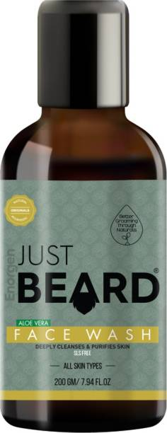 Enorgen JUSTBEARD Moisturizing Aloe Vera  For Men |100% Natural Authentic Ayurvedic - SLS and Chemical Free Face Wash