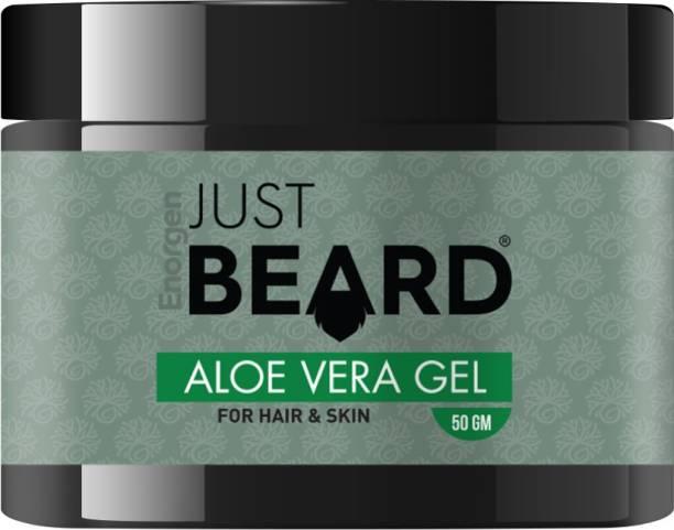 Enorgen JUSTBEARD Natural Ayurvedic Aloe Vera Gel for Hair, Face & Beard Hair Gel