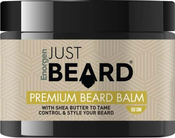 Enorgen JUSTBEARD Natural Ayurvedic Premium Beard Balm-Soften and Moisturizes Beard with Aloe vera and Shea Butter Beard Cream