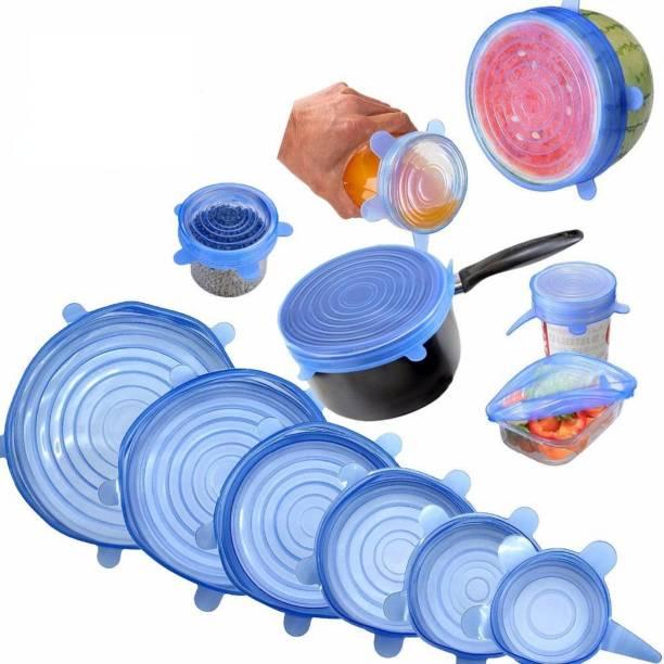 KASHUJ Silicone Reusable Dishwasher Microwave and Freezer Safe Lids 10 inch Lid Set