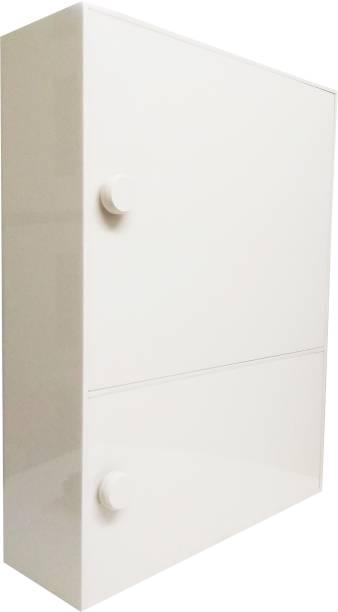 WINACO Aarti Off White Bathroom Storage Cabinet Fully Recessed Medicine Cabinet