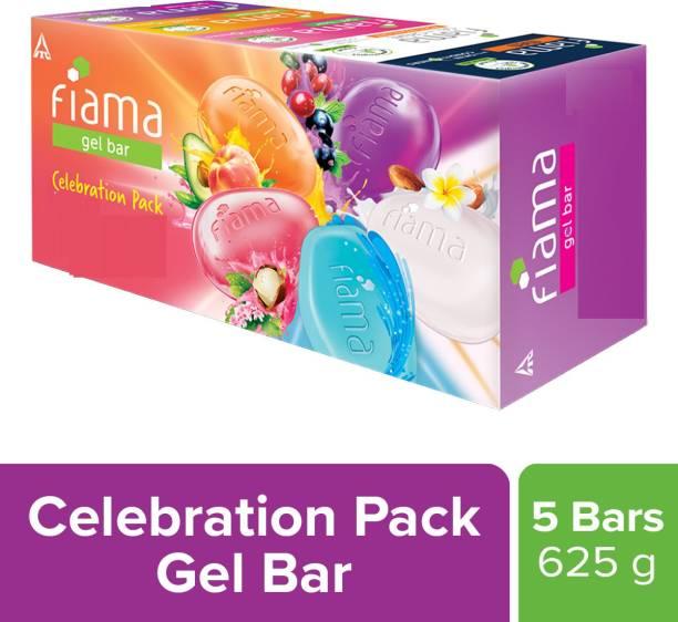 FIAMA Gel bar Celebration Pack, 125g (Buy 4 Get 1 Free)