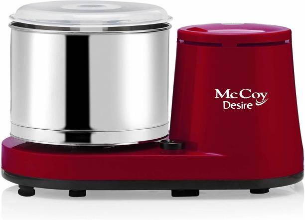 Mccoy DESIRE 2-Litre Table Top Wet Grinder with Coconut Scrapper & Atta Kneader (Red) Wet Grinder