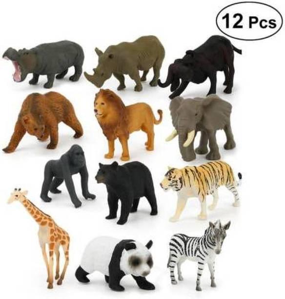 NIKYANKA wild animal toy set foe kids