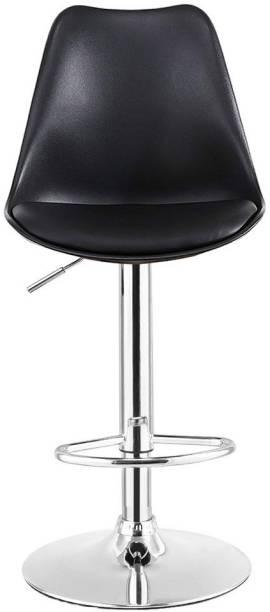 APEX CHAIRS SAVYA HOME CURVY BAR STOOL/KITCHEN STOOL BLACK Plastic Bar Stool