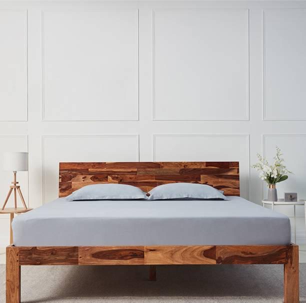 Wakefit Andromeda Sheesham Solid Wood Queen Bed