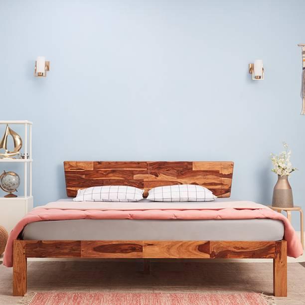 Wakefit Auriga Sheesham Solid Wood Queen Bed