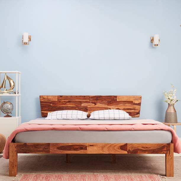 Wakefit Auriga Sheesham Solid Wood King Bed
