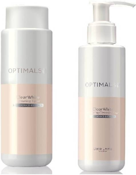 Oriflame clear white lightening cleansing foam and lightening toner combo