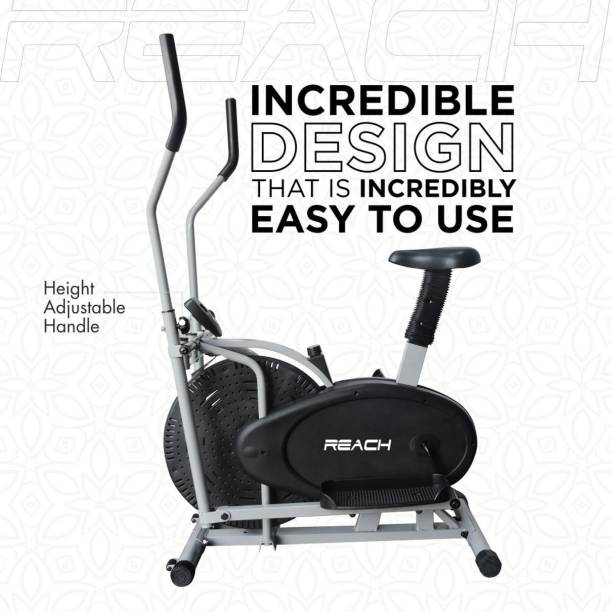 Reach Orbitrack Elliptical Exercise Cycle| Cross trainer Fitness Bike With Moving handle Dual-Action Stationary Exercise Bike