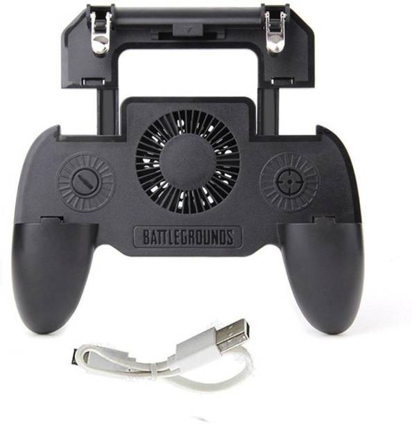 NICK JONES Best Quality SR Pubg Gamepad Controller Pubg Mobile Trigger Joystick || 4-IN-1 MOBILE GAME CONTROLLER || Metal L 1 R 1 Shooter Trigger || PHONE COOLING PAD || Fire Button || Cooling Fan Gamepad || BUILT-IN POWER BANK  Gamepad