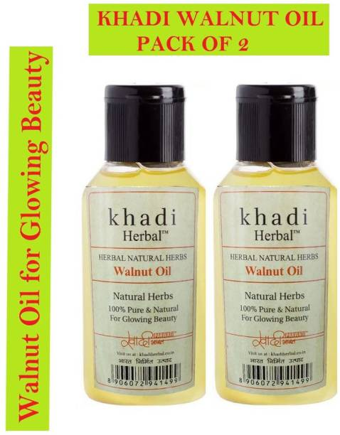 Khadi Herbal Walnut Oil for Glowing Beauty 200ml Hair Oil