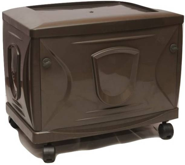 VachannPowerSolutions Single Battery Inverter Trolley(Coffee brown) Trolley for Inverter and Battery