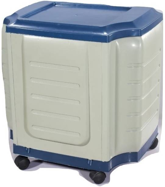 VachannPowerSolutions Single Battery Inverter Trolley(white&blue) Trolley for Inverter and Battery
