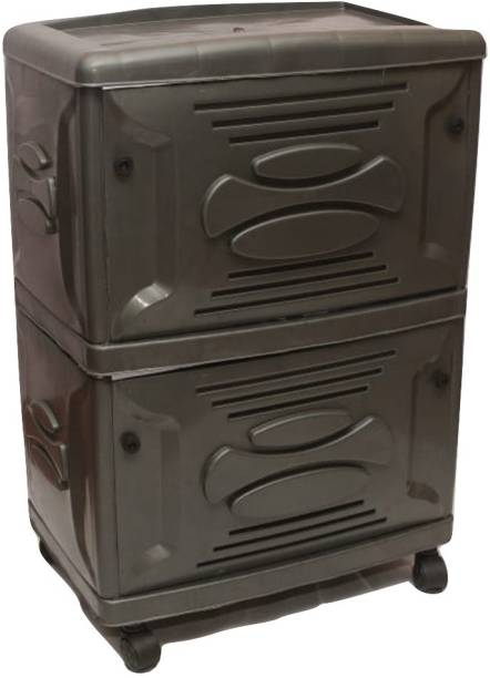 VachannPowerSolutions Double Battery Inverter Trolley(brown) Trolley for Inverter and Battery