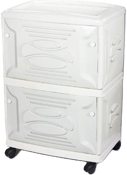 VachannPowerSolutions Double Battery Inverter Trolley(white) Trolley for Inverter and Battery