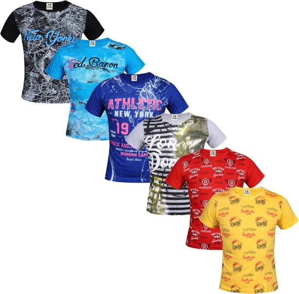 Fashionate World Boys Printed Pure Cotton T Shirt