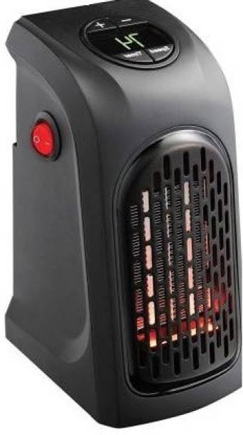 CHG 400W Portable Mini Handy Air Heater Warm Fan Blower Heater Radiator Warmer Wall-Outlet Space Heater for Office, Home, AC 220-240V, EU Plug Fan Fan Room Heater