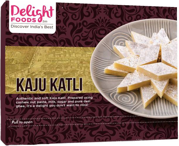 Delight Foods Kaju Katli (Kaju Katri, Cashew Barfi Box