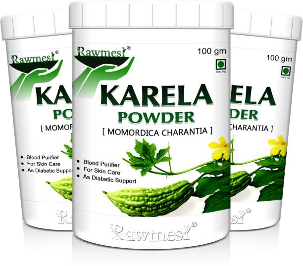 Rawmest Pure Ayurvadic Karela Powder (Momordica Charantia/Karela Fruit Powder), Ayurvedic Herb For Blood Sugar Control & Improves Liver Function