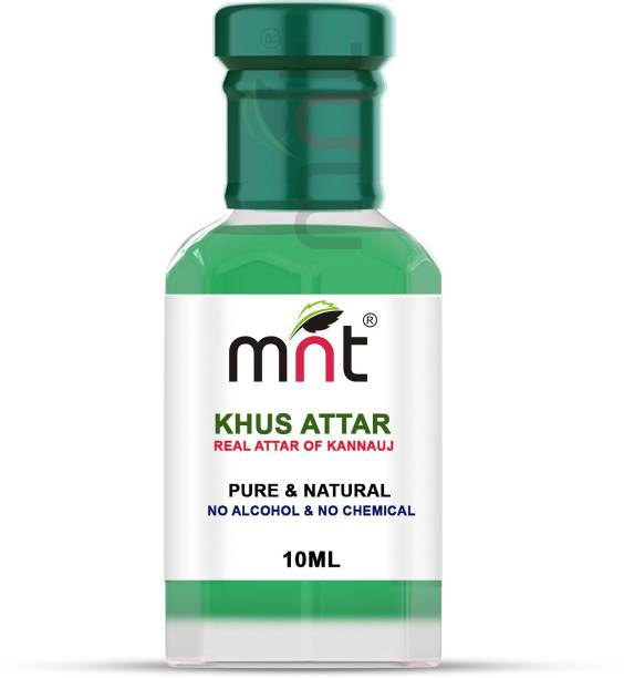 MNT Khus Attar For Unisex, Long Lasting & Alcohol Free (10ml) - Pure Natural & Premium Quality Roll-on Floral Attar