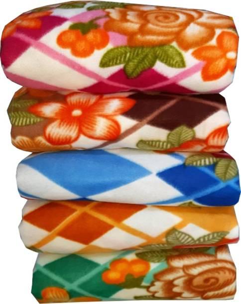 FINCH Floral Single Fleece Blanket