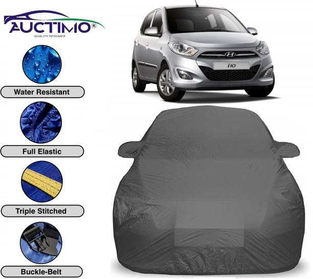 AUCTIMO Car Cover For Hyundai i10 (With Mirror Pockets)