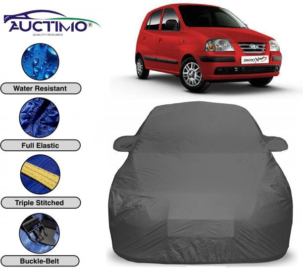 AUCTIMO Car Cover For Hyundai Santro Xing (With Mirror Pockets)